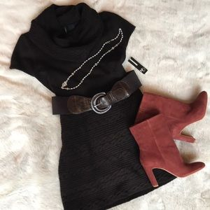 NWT Brown Sweater Dress with Belt 🙌🏼